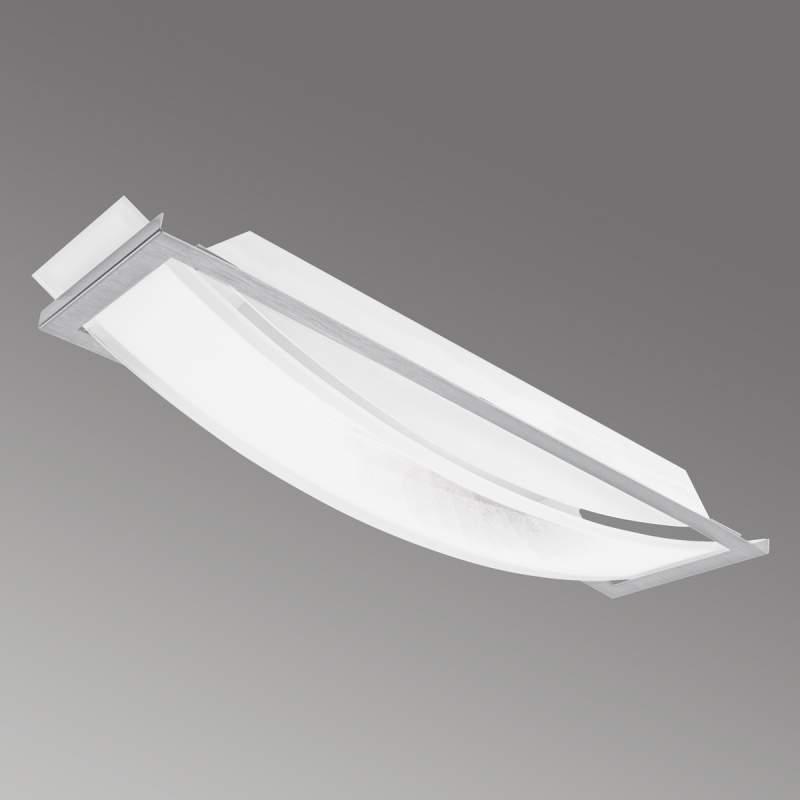 Rechthoekige LED plafondlamp Arc, 26,5 cm, ww