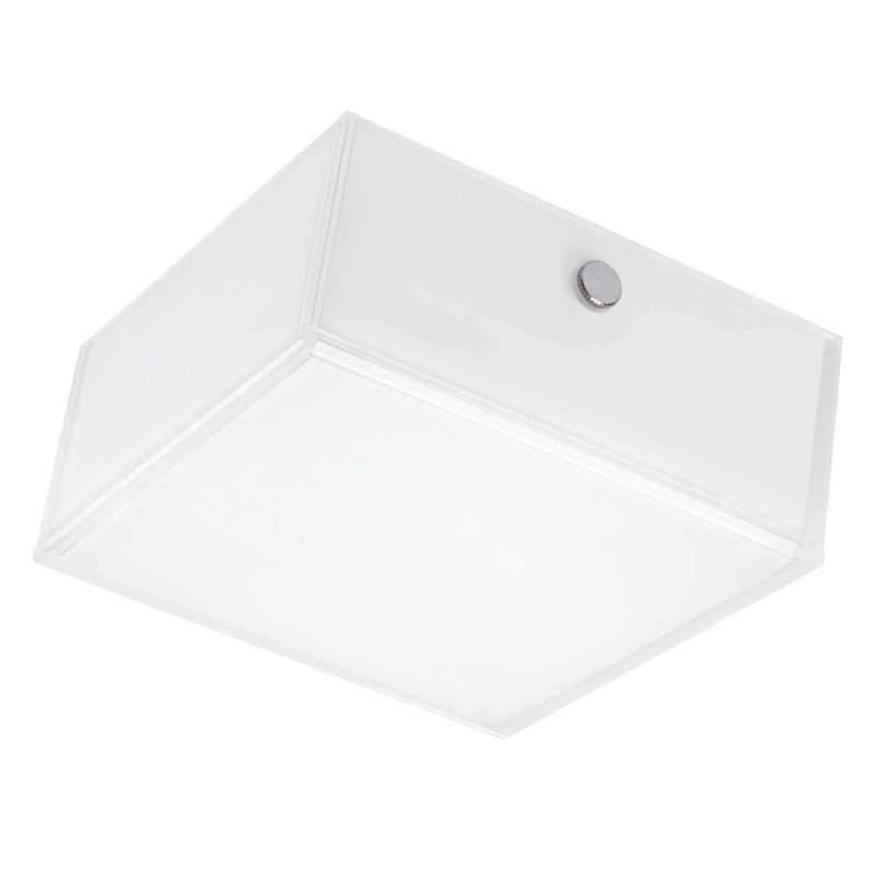 Quadro - plafondlamp van gesatineerd glas m. LED's