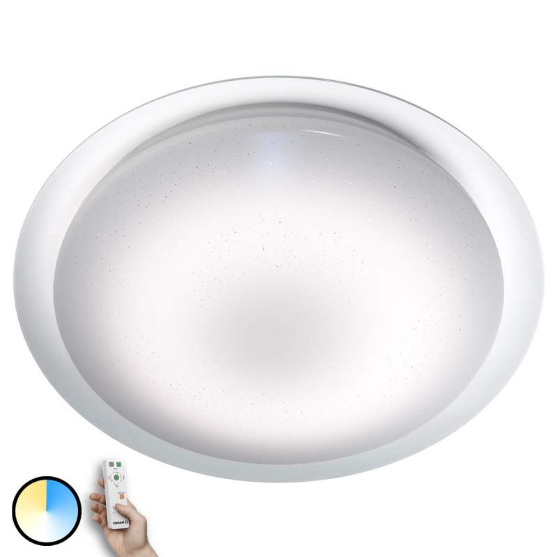 LED plafondlamp Silara Sparkle, afstandsbediening