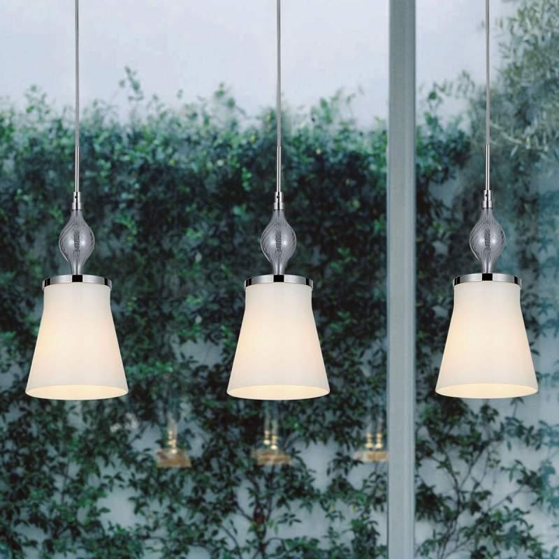 Drieflammige hanglamp Maxima Vetro