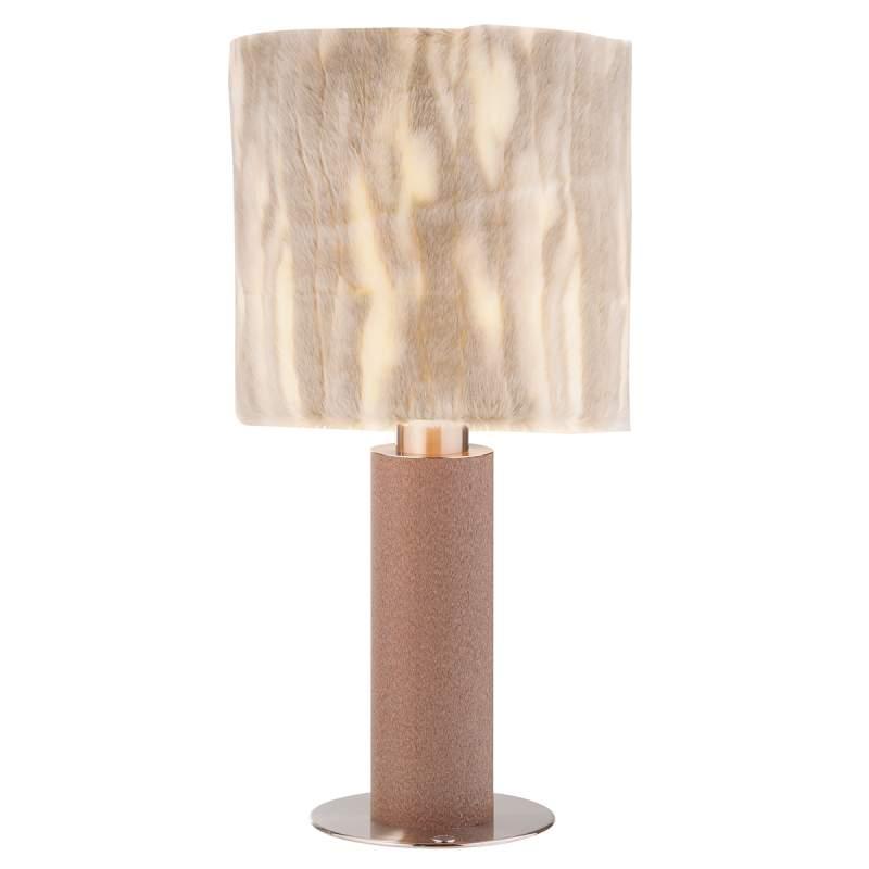 Tafellamp Carmen met faux fur kap