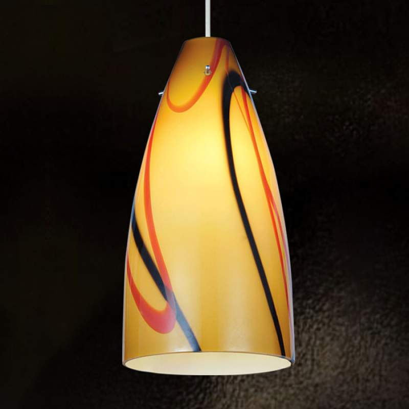 Mondgeblazen hanglamp Virginia