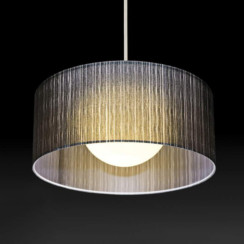 Hanglamp Ganzo, d 60 cm, h 25 cm, ophanging 150 cm