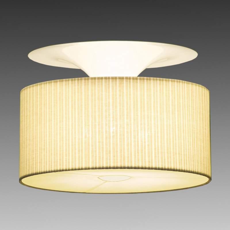 Plafondlamp Onda in zachte beige kleur