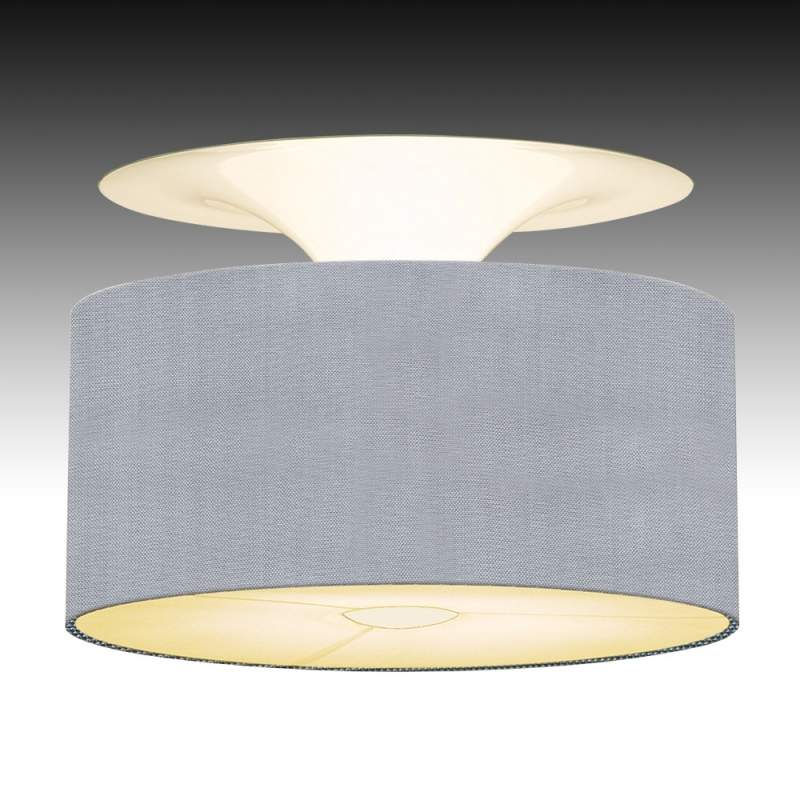 Plafondlamp Onda in zachte grijze kleur