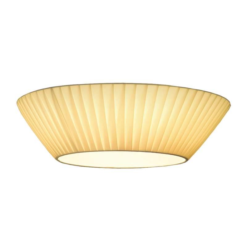 Bescheiden plafondlamp Emma, 30 cm diameter, beige