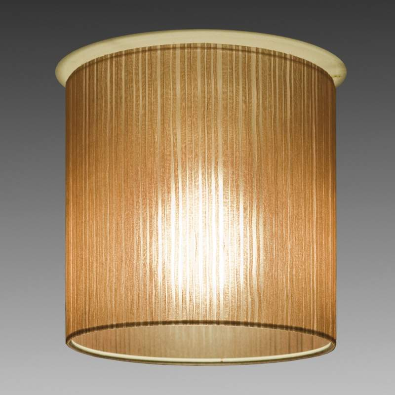 Bruine plafondlamp Ganzo, diameter, 20 cm