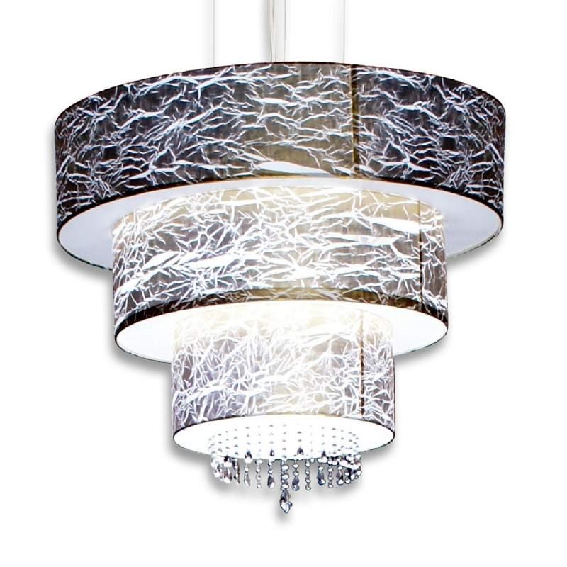 Indrukwekkende hanglamp Strapono met kristallen