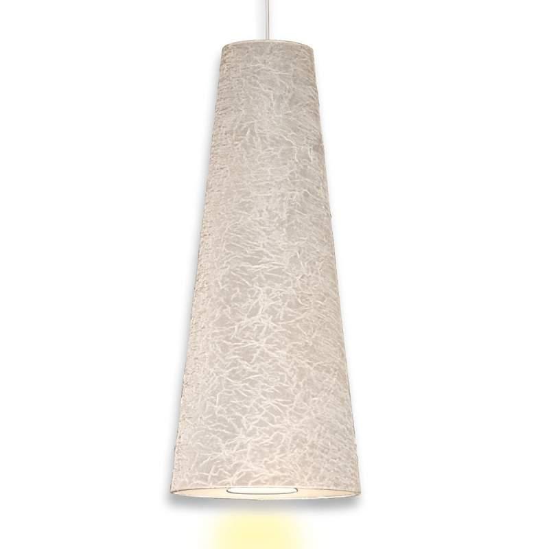 Hanglamp Regina met kreukelfolie, 90 cm, wit