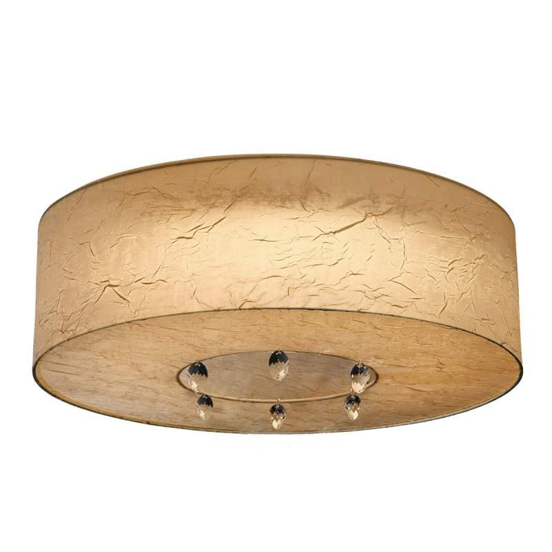 Plafondlamp Ikarus met kristallen kettingen