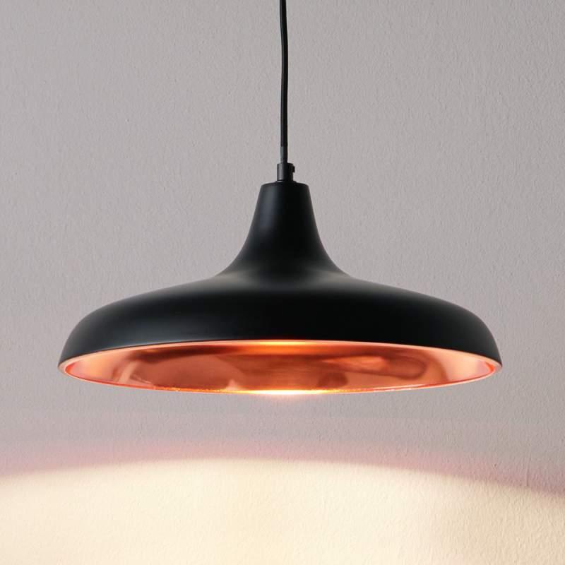Hanglamp Surrey in zwart koper