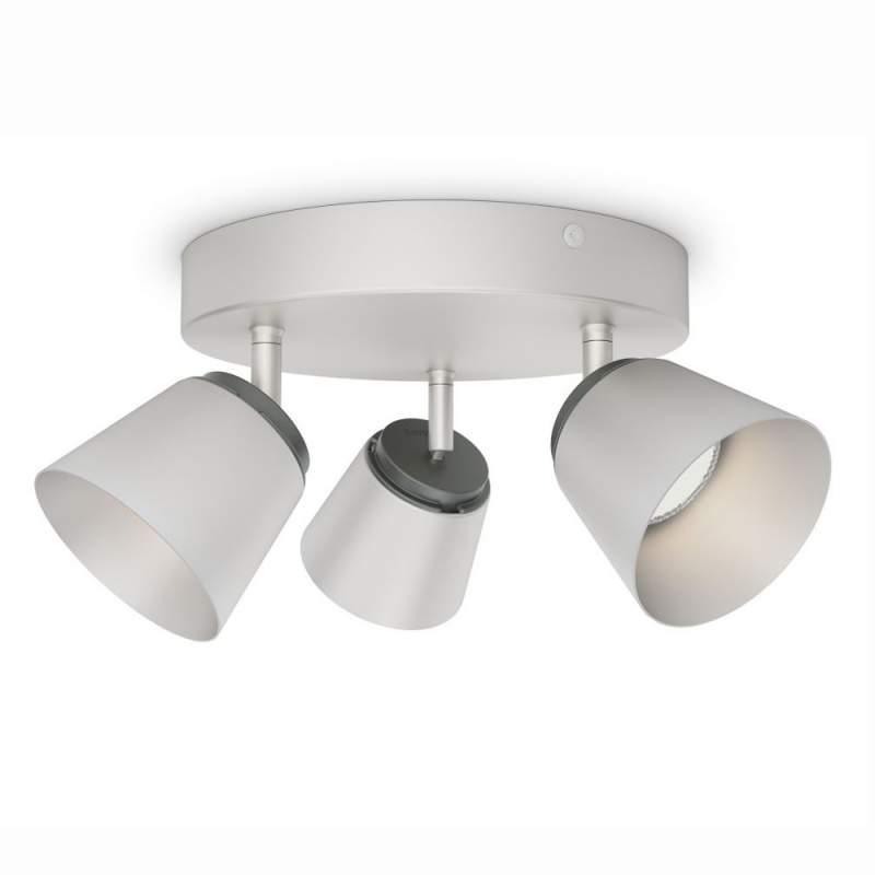 Mat verchroomde LED plafondrondel Dender