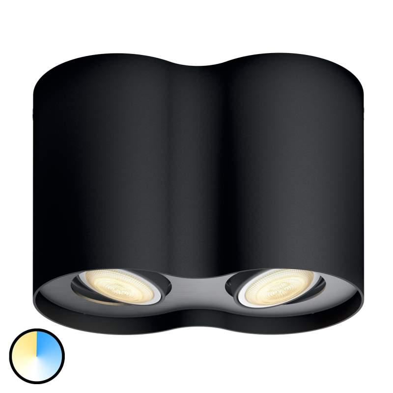 Met dimmer - Philips Hue LED 2-kops spot Pillar
