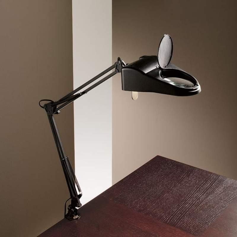 Tafellamp LUCE met loepfunctie en klemvoet