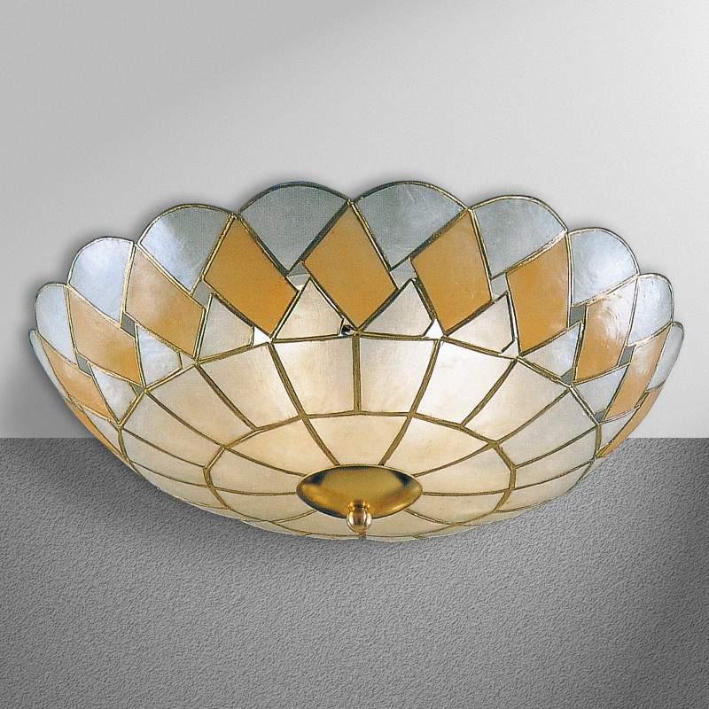 Plafondlamp ASHTON van parelmoer, 2-lichts