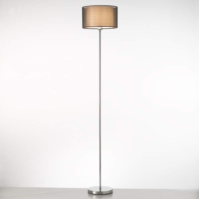 Elegante staande lamp Bonnie met stoffen scherm