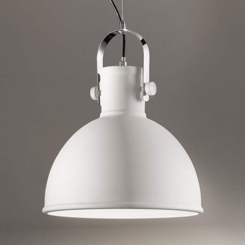Witte hanglamp Iffet uit metaal