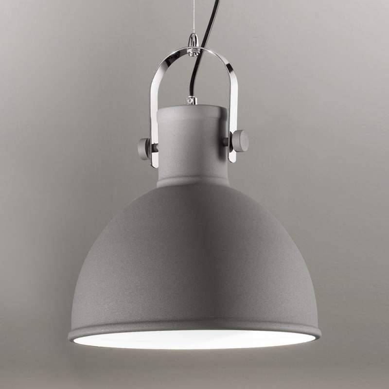 Grijs metalen hanglamp Iffet