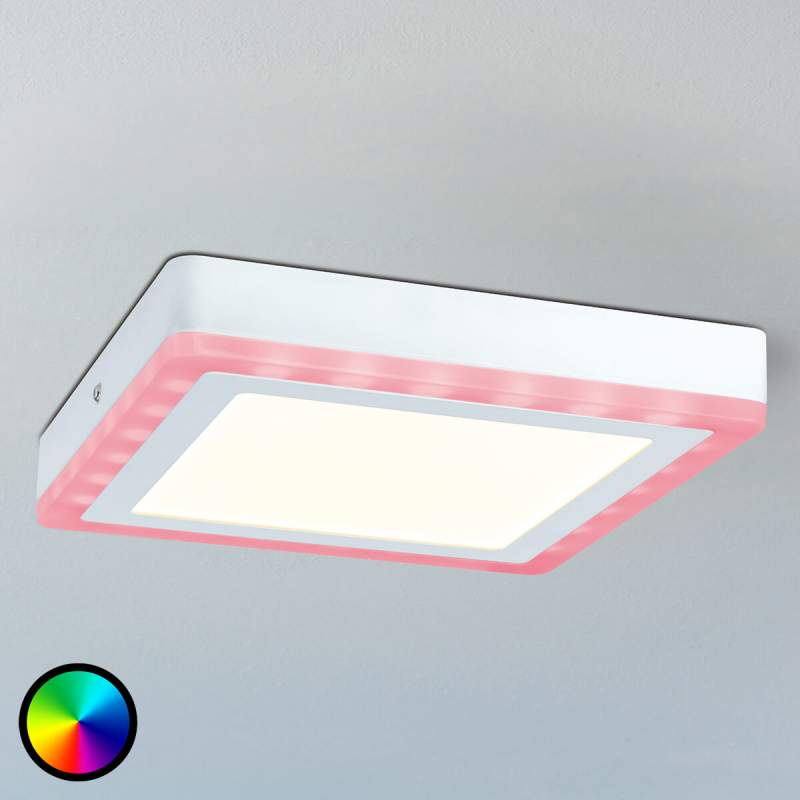 Afstand bedienbare led plafondpaneel Sol, RGB-lamp