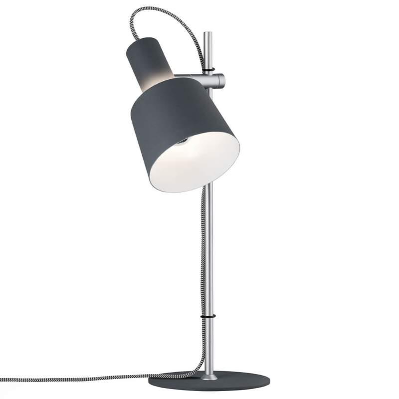 Haldar - moderne tafellamp in donkergrijs