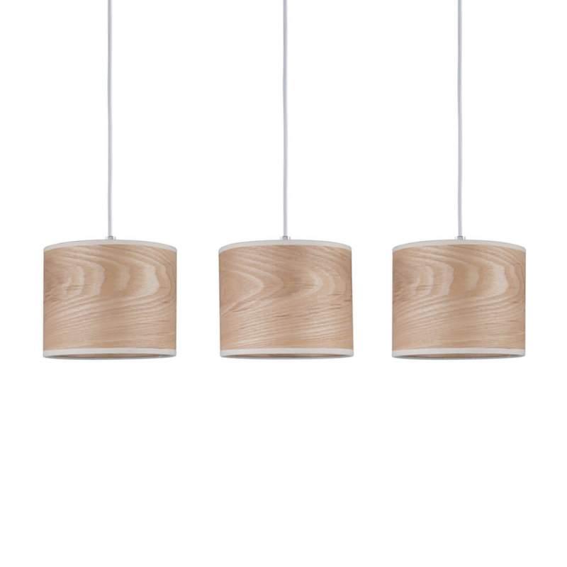 3-lamps hanglamp Neta in natuurlijk design