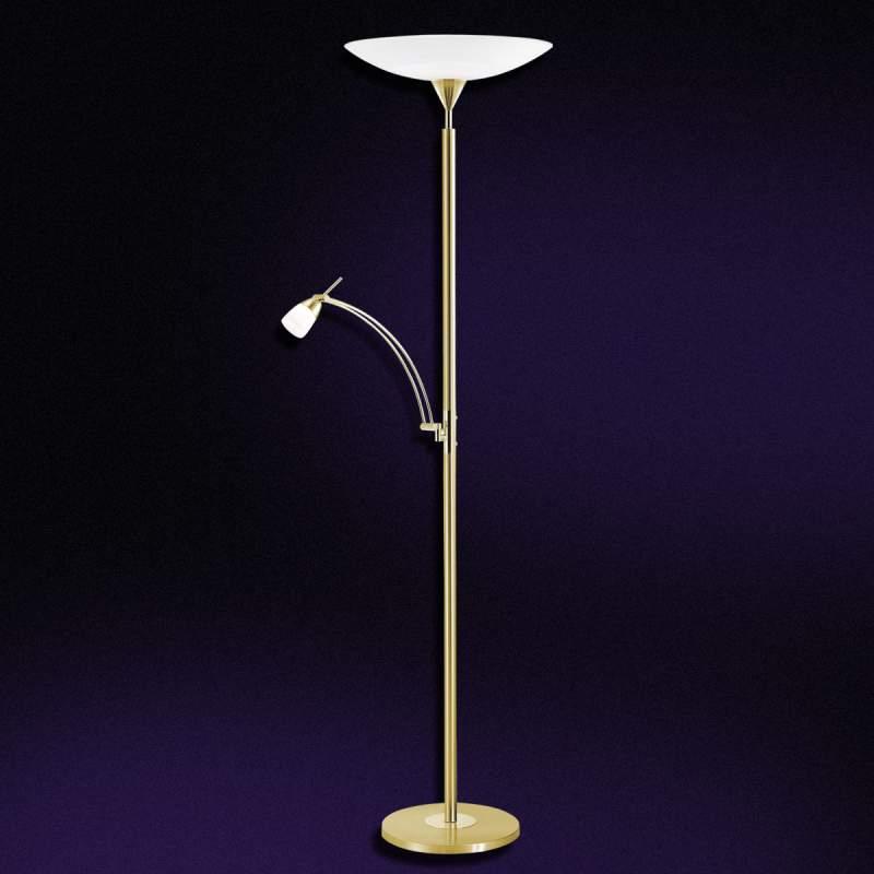 LED plafond uplight Pearl met leeslamp, messing