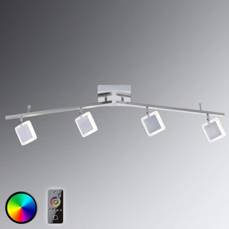 LED plafondspot Vidal met 4 lichtbr. met afstandsb
