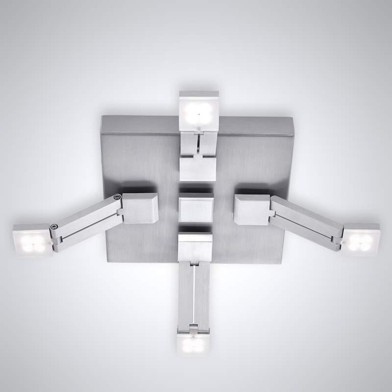 Dimbare LED plafondlamp Transform, 4 lichtbr.