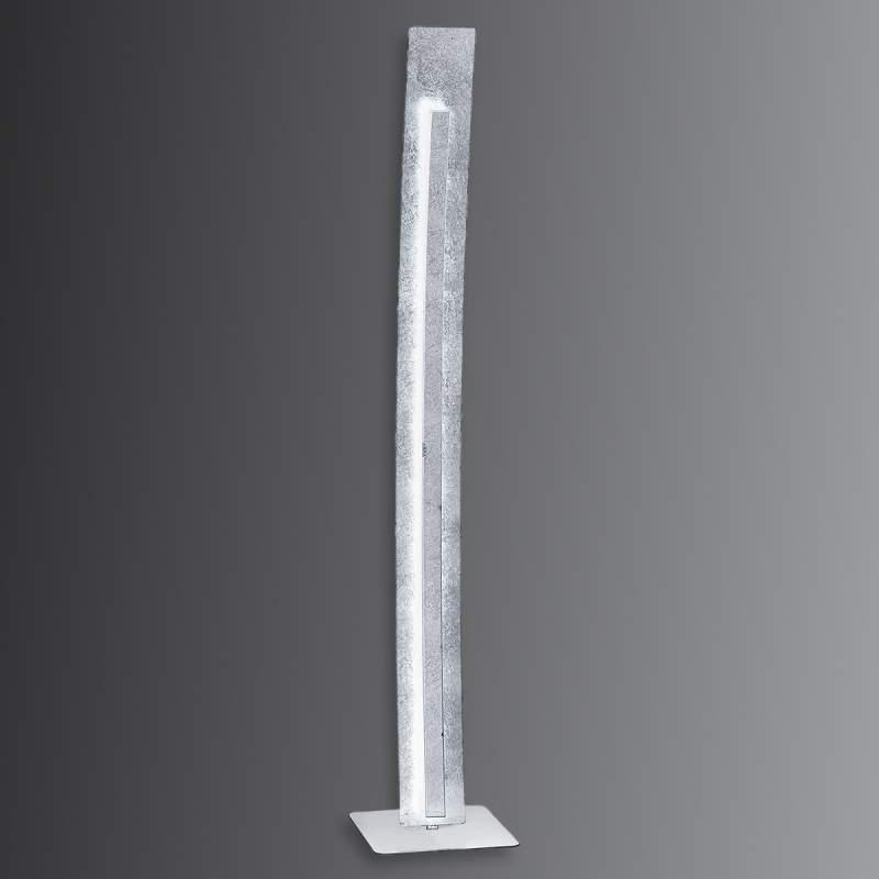 Moderne LED staande lamp Nevis in bladzilver look