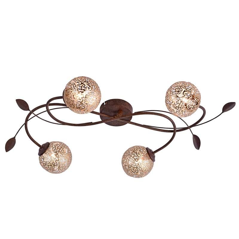 Floraal gevormde plafondlamp Greta, 4 lichtbronnen