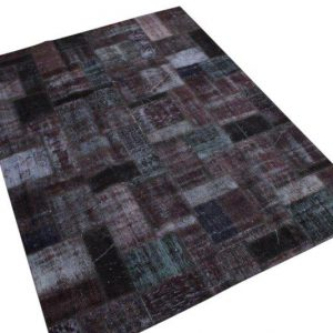 Patchwork vloerkleed, antraciet, 237cm x 173cm
