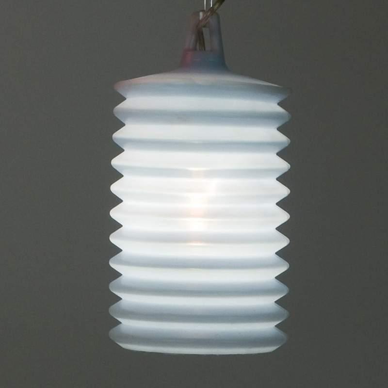 Gave hanglamp LAMPION voor buiten, blauw