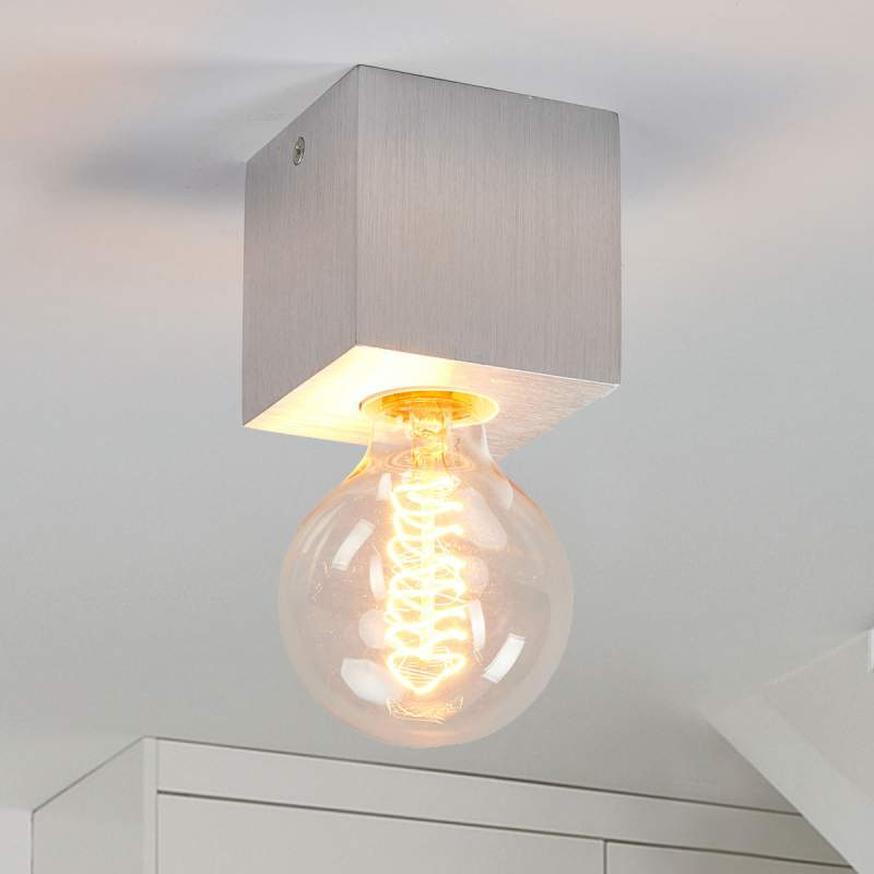Minimalistische plafondlamp Cubic uit aluminium
