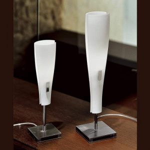 Tafellamp OSLO, mondgeblazen glas