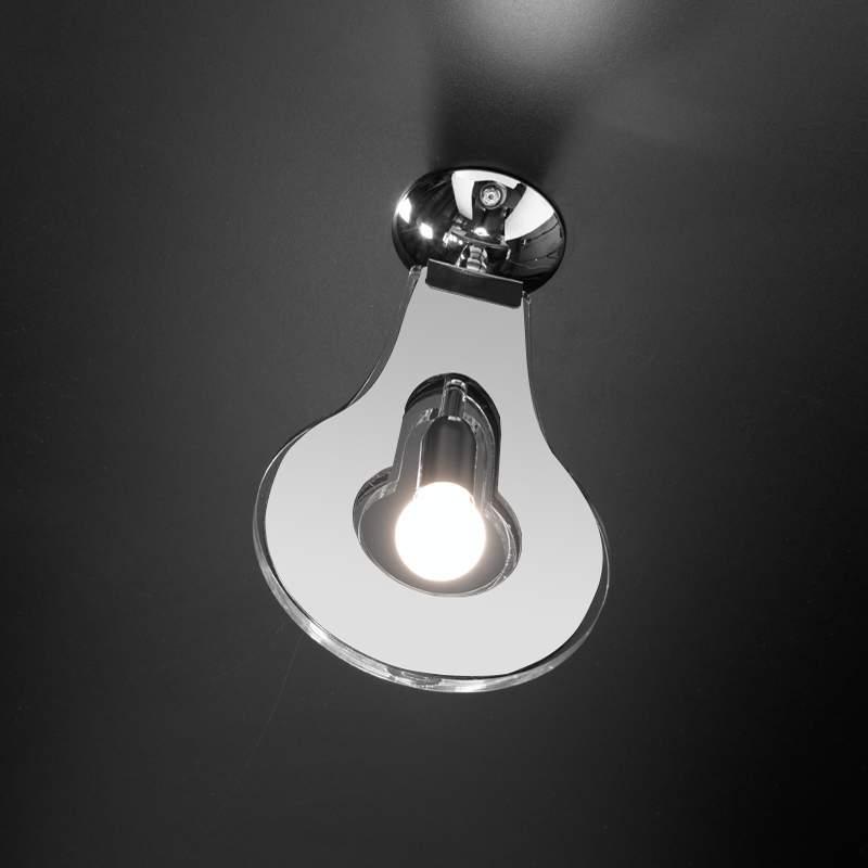 Trendy plafondlamp Flat, wit