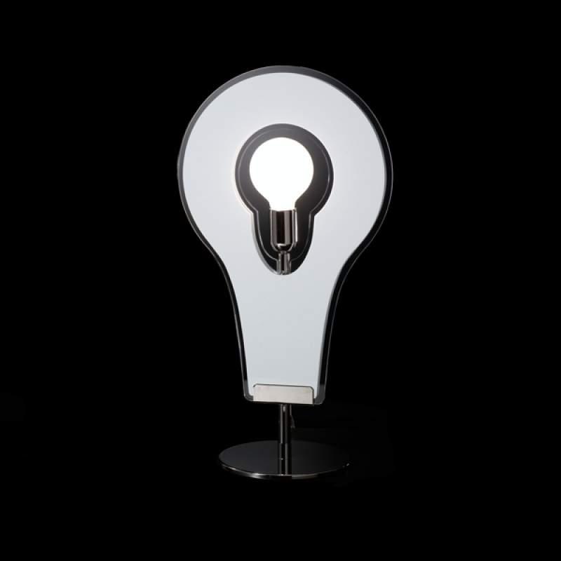 Mooie tafellamp Flat 60, wit
