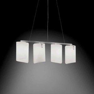 Hanglamp Papiro, 4-lichts, gesatineerd