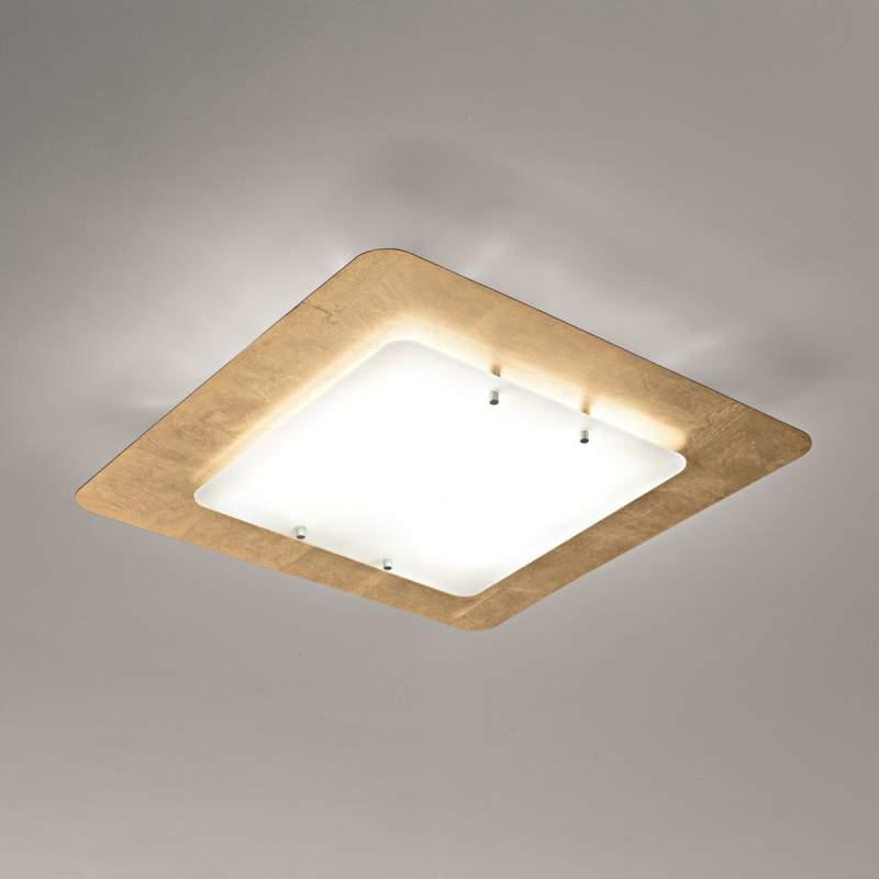 Pop-up plafondlamp met frame van bladgoud