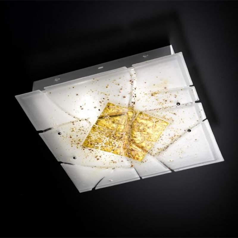 Vierkante plafondlamp Frame, E27