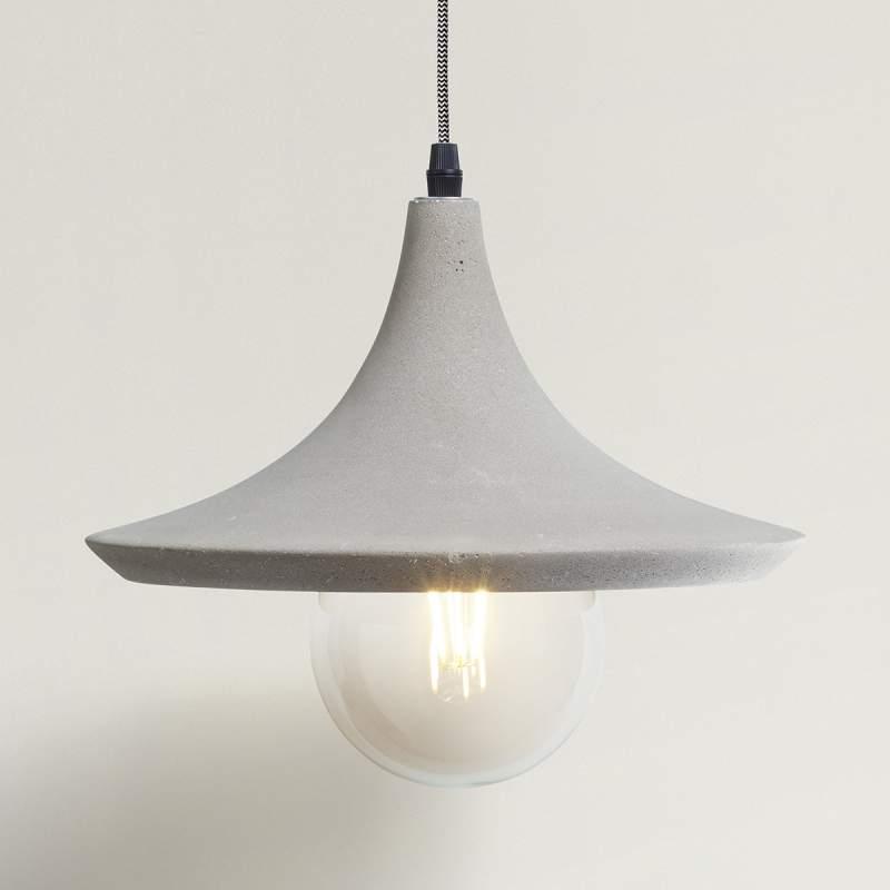 Sierlijke hanglamp Lito met betonnen kap