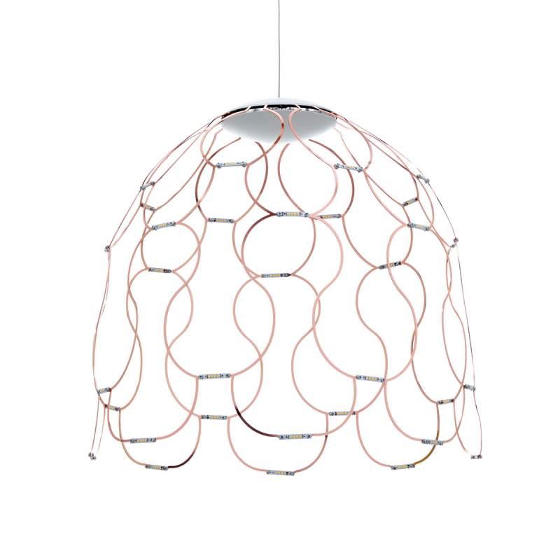 Koperkleurige LED hanglamp Lady Lamoi