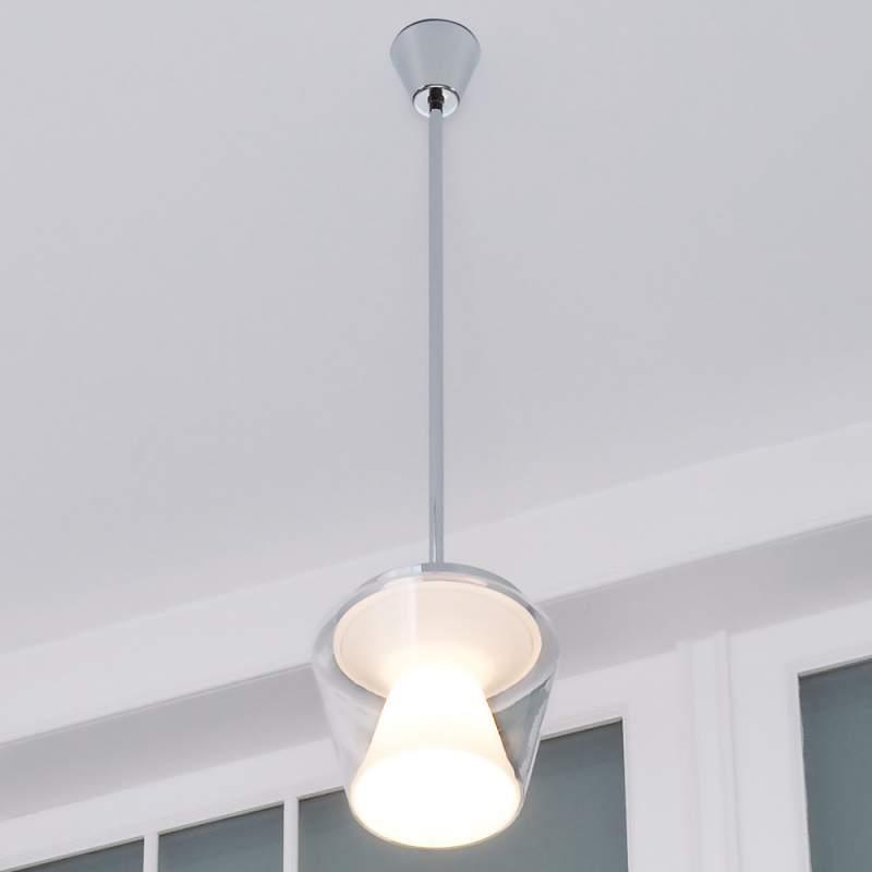 Led design hanglamp Annex met glazen kap