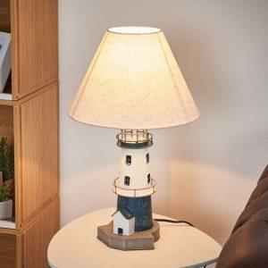 Blauw-witte vuurtorenlamp Piet