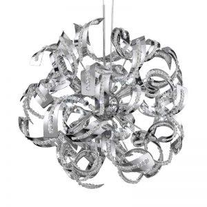 Briljante hanglamp SPARKLES met kristallen