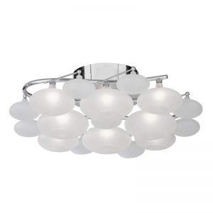 Plafondlamp DULCIE met matglazen kappen