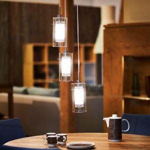 3-lichts decoratieve hanglamp DUO 1, rond