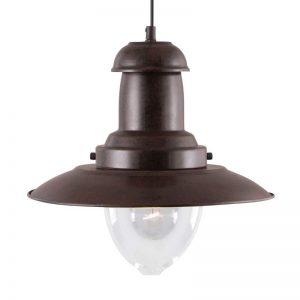 Maritieme hanglamp FISHERMAN, antiekbruin