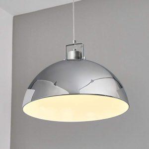 Glanzend chromen hanglamp DIJA