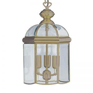 Lantaarnvormige hanglamp ARLIND, oud-messing