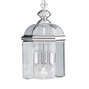 Glanzend chromen hanglamp ARLIND, chroom